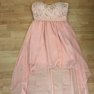 GORGEOUS blush high-low dress from Forever 21